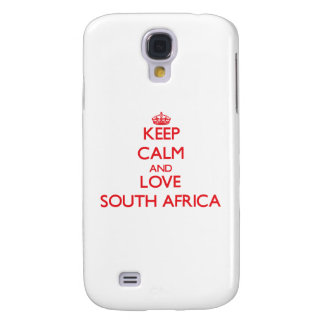 Keep Calm and Love South Africa Galaxy S4 Case