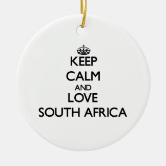 Keep Calm and Love South Africa Christmas Ornament