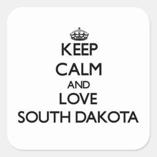 Keep Calm and Love South Dakota Sticker