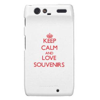 Keep calm and love Souvenirs Motorola Droid RAZR Cover