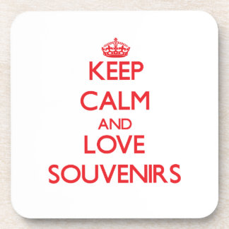 Keep calm and love Souvenirs Beverage Coaster
