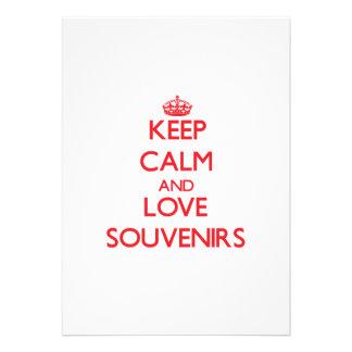 Keep calm and love Souvenirs Custom Invites