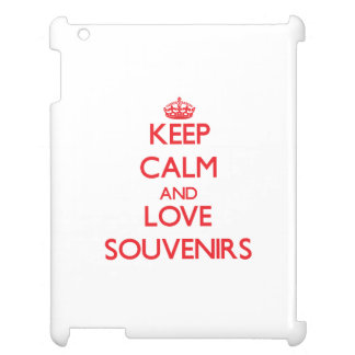 Keep calm and love Souvenirs iPad Cover