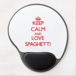 Keep calm and love Spaghetti Gel Mouse Pad