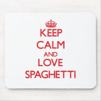 Keep calm and love Spaghetti Mouse Pad