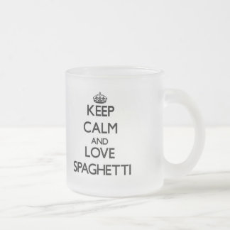 Keep calm and love Spaghetti Frosted Glass Mug