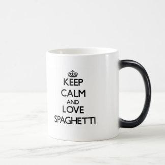 Keep calm and love Spaghetti 11 Oz Magic Heat Color-Changing Coffee Mug