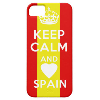 kEEP CALM AND LOVE SPAIN iPhone 5 Cases