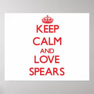 Keep calm and love Spears Print