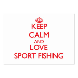 Keep calm and love Sport Fishing Business Card Templates