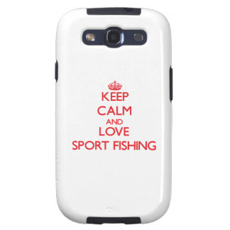 Keep calm and love Sport Fishing Galaxy S3 Covers