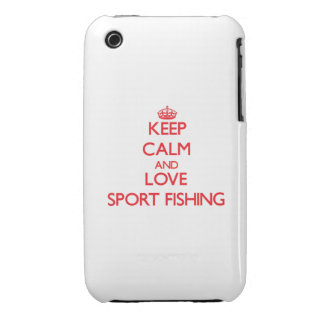 Keep calm and love Sport Fishing iPhone 3 Case