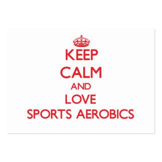 Keep calm and love Sports Aerobics Business Card Template