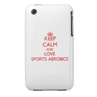 Keep calm and love Sports Aerobics iPhone 3 Cases