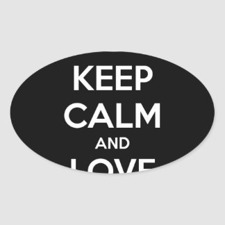 KEEP CALM AND LOVE SPREADSHEETS OVAL STICKER