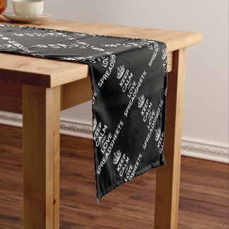 KEEP CALM AND LOVE SPREADSHEETS SHORT TABLE RUNNER