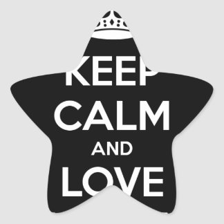KEEP CALM AND LOVE SPREADSHEETS STAR STICKER
