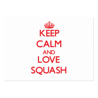 Keep calm and love Squash Business Card Template
