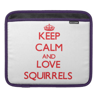Keep calm and love Squirrels iPad Sleeve