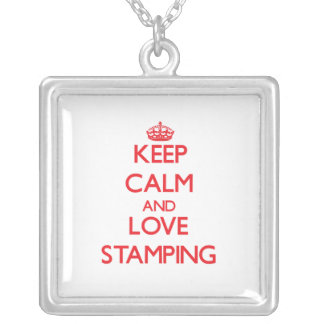 Keep calm and love Stamping Pendant