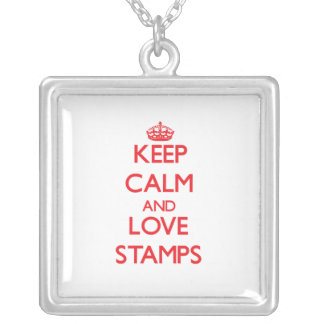 Keep calm and love Stamps Custom Necklace