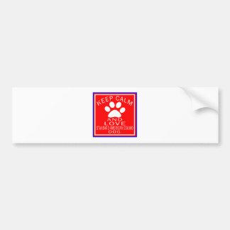 Keep Calm And Love Standard American Eskimo dog Bumper Sticker