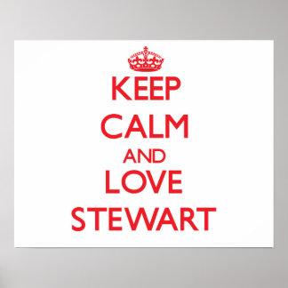 Keep calm and love Stewart Print