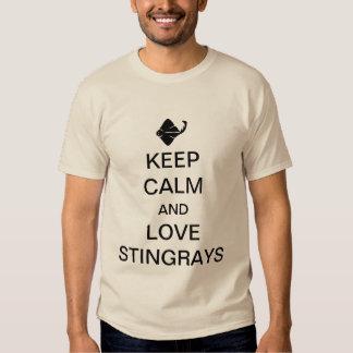 Keep calm and love stingrays tee shirts