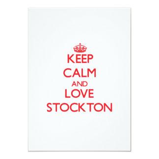 Keep Calm and Love Stockton 13 Cm X 18 Cm Invitation Card