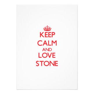 Keep calm and love Stone Invite