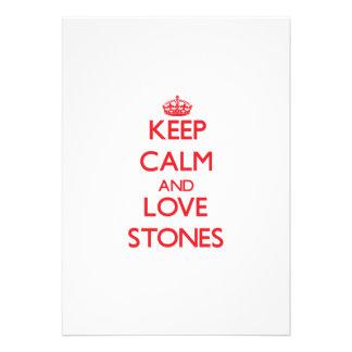 Keep calm and love Stones Card
