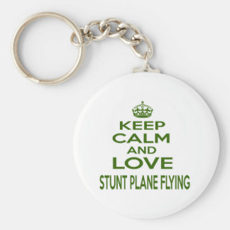 Keep Calm And Love Stunt Plane Flying Key Chains