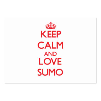 Keep calm and love Sumo Business Cards