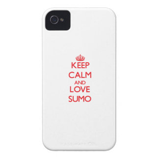 Keep calm and love Sumo iPhone 4 Case-Mate Cases