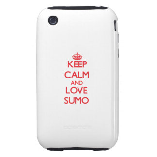 Keep calm and love Sumo iPhone 3 Tough Cases
