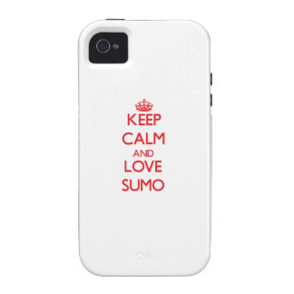 Keep calm and love Sumo Case-Mate iPhone 4 Case