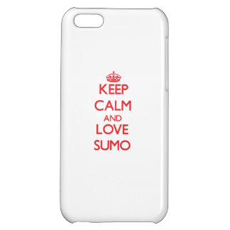 Keep calm and love Sumo iPhone 5C Case