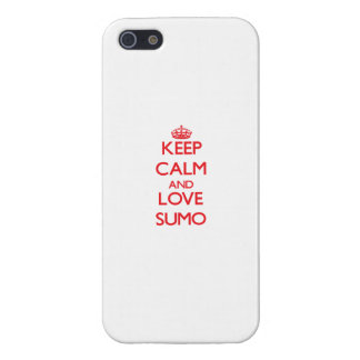 Keep calm and love Sumo iPhone 5 Covers