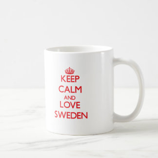 Keep Calm and Love Sweden Basic White Mug