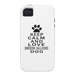 Keep Calm And Love Swedish Vallhund Dog Case For The iPhone 4