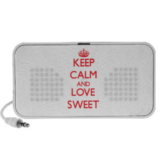 Keep calm and love Sweet Travel Speaker