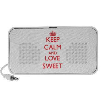 Keep calm and love Sweet Travel Speaker