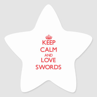 Keep calm and love Swords Sticker