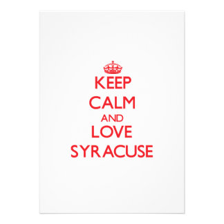 Keep Calm and Love Syracuse Invite