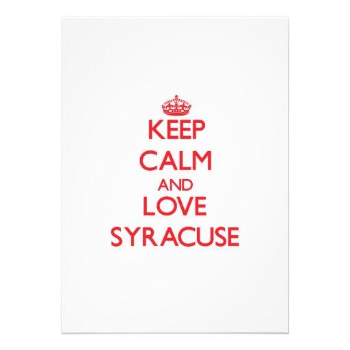 Keep Calm and Love Syracuse Invite