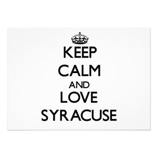 Keep Calm and love Syracuse Custom Invitations