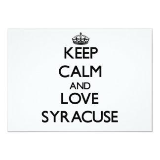 Keep Calm and love Syracuse 13 Cm X 18 Cm Invitation Card