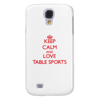 Keep calm and love Table Sports HTC Vivid Case