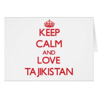 Keep Calm and Love Tajikistan Greeting Card