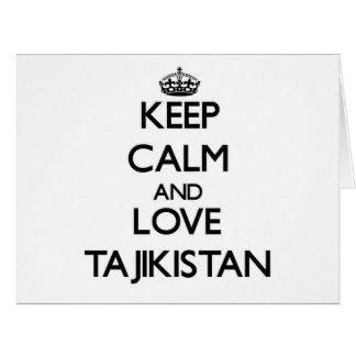 Keep Calm and Love Tajikistan Card